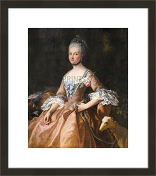 Portrait de Marie-Adelaide de France Fine Art Print by Jean-Marc Nattier