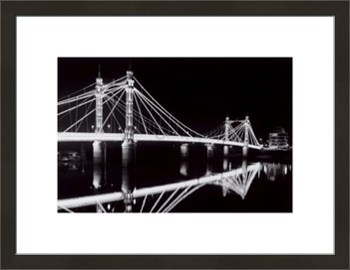 Albert Bridge At Night Print by Bill Philip