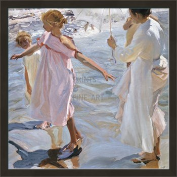 Time for a Bathe, Valencia Print by Joaquín Sorolla y Bastida