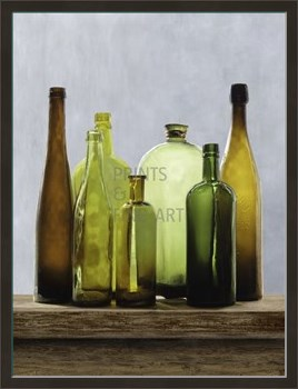 Bottle Green Print by Mark Chandon