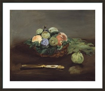 Basket of Fruit, c.1864 Fine Art Print by Edouard Manet