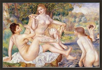 The Large Bathers Print by Pierre Auguste Renoir