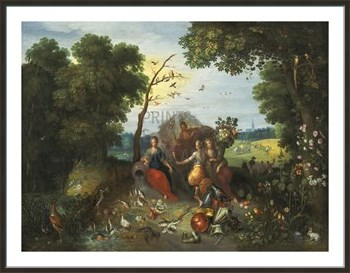 Landscape with Allegories of the Four Elements Fine Art Print by Pieter Brueghel the Younger
