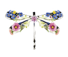 Fantasia Floral Dragonfly by Kristine Hegre