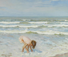 Child on a Beach by Charles Atamian