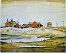 Landscape with Farm Buildings, 1954 by L.S. Lowry
