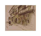 Old English Inns, The George Inn, Norton St. Philip by Cecil Aldin