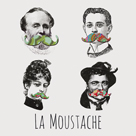 La Moustache I by Clara Wells