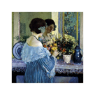 Girl in Blue Arranging Flowers, c1915 by Frederick Carl Frieseke