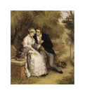 The Lover's Seat: Shelley and Mary Godwin by William Powell Frith