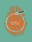 Orange Splash by Myriam Tebbakha