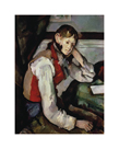 The Boy in the Red Waistcoat by Paul Cezanne