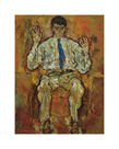 Portrait of Albert Paris Gutersloh, 1918 by Egon Schiele