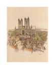 Lincoln Cathedral by Cecil Aldin
