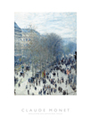Boulevard des Capucines - Focus by Claude Monet