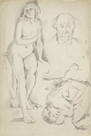 Studies of Three Figures, including a Self-Portrait, c.1883 by Paul Cezanne