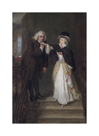 Dr. Johnson and Mrs Siddons in Bolt Court by William Powell Frith