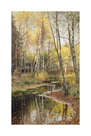 Autumn in the Birchwood by Peder Mork Monsted