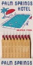 Palm Springs Hotel Matchbook by Kristine Hegre