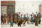 Waiting For The Shops To Open by L.S. Lowry