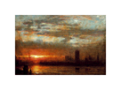 Westminster Sunset, London by Albert Goodwin