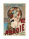 Riz Abadie Cigarette Rolling Paper, 1898 by Alphonse Mucha