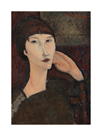 Adrienne, Woman with Bangs, 1917 by Amedeo Modigliani