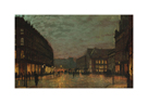 The Lights of Boar Lane, Leeds by John Atkinson Grimshaw