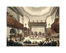 Court of Common Pleas, Westminster Hall by Thomas Rowlandson