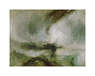 Snowstorm at Sea by J.M.W. Turner
