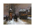 Evening Snow at the Institute of France by Edouard Cortes