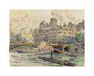 Pont de la Feuillee in Lyon by Paul Signac