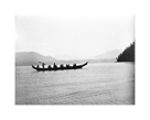 Kwakiutl Indians In Boat, British Columbia by Edward Sheriff Curtis