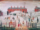 The Schoolyard by L.S. Lowry