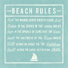 Beach Rules - Aqua - Detail by The Vintage Collection