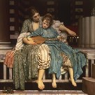 The Music Lesson by Lord Frederic Leighton