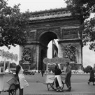 Selling Ice-Cream, Arc de Triomphe, Paris, c1950 by Paul Almasy
