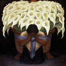 The Flower-Seller by Diego Rivera