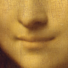 Mona Lisa - Detail of her Smile by Leonardo da Vinci