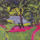Lake in the Bohemian Forest by Ernst Ludwig Kirchner