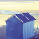 Beach Hut - Calm by Bill Philip