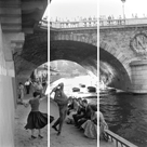 Rock 'n' Roll Dancers on Paris Quays - Trio by Paul Almasy