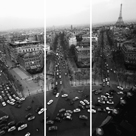 View from the Arc de Triomphe - Trio by Paul Almasy