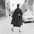 Model in Coat, France, 1950 by The Chelsea Collection