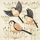 Feather Flyers by Catriona Hall