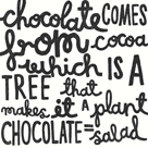 Chocolate = Salad by Kristine Hegre