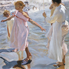 Time for a Bathe, Valencia by Joaquín Sorolla y Bastida
