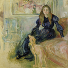 Julie Manet and her Greyhound Laerte by Berthe Morisot