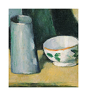 Bowl and Milk Jug, c.1873-77 by Paul Cezanne