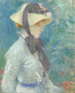 Young Woman with a Straw Hat by Berthe Morisot